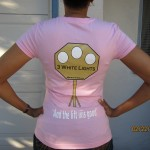 Woman apparell pink (powerlifting logo)